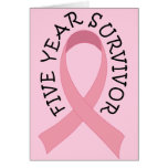 5 Year Breast Cancer Survivor Greeting Card