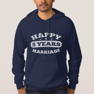 5 Year Happy Marriage Hoodie