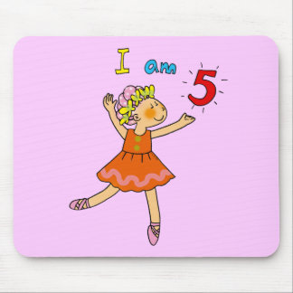 5 year old ballerina mouse pad