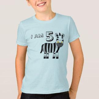 5 year old birthday boy/girl gift (zebra) T-Shirt