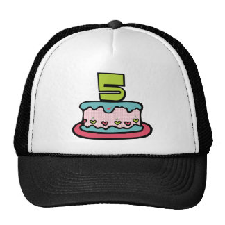 5 Year Old Birthday Cake Trucker Hat