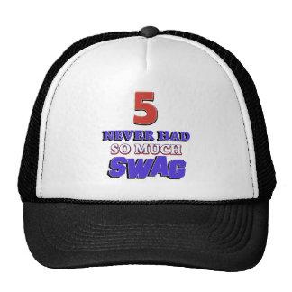 5 Year Old Birthday Gift Trucker Hat