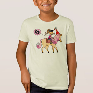 5 year old girl on a pony T-Shirt