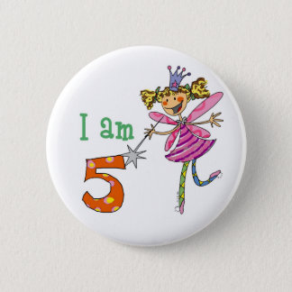 5 year old princess fairy pinback button