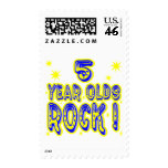 5 Year Olds Rock ! (blue) Postage