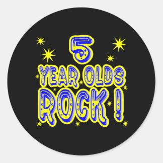 5 Year Olds Rock! (Blue) Sticker