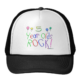 5 Year Olds Rock! Hat