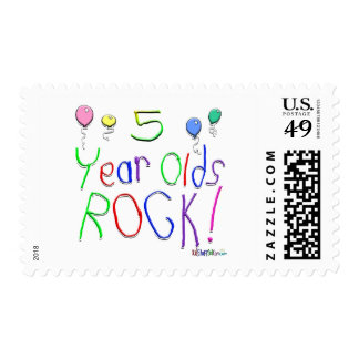 5 Year Olds Rock ! Postage