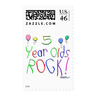 5 Year Olds Rock Stamp