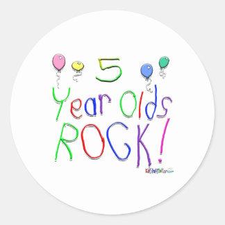 5 Year Olds Rock! Sticker