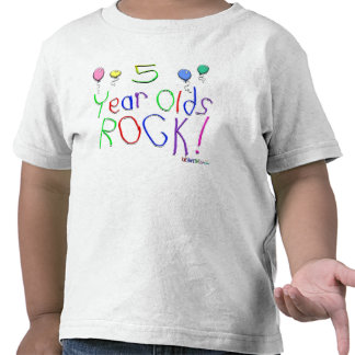 5 Year Olds Rock ! T-shirt