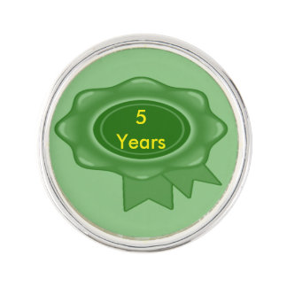 5 Year Service Award Lapel Pin