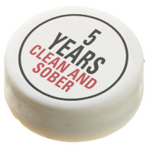 5 Years Clean and Sober Chocolate Dipped Oreo