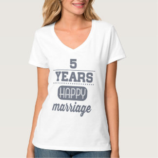 5 Years Happy Marriage T-Shirt