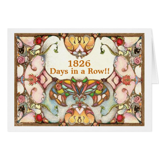 5 Years of Recovery Days Greeting Card