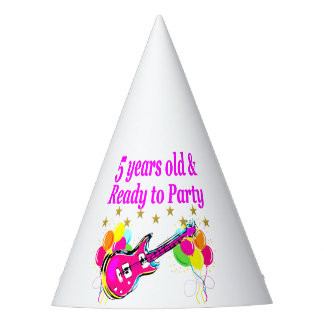 5 YEARS OLD AND READY TO PARTY ROCK STAR PARTY HAT