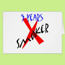 5 Years Red X-smoker Card