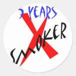 5 Years Red X-smoker Stickers