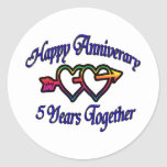 5 Years Together Stickers