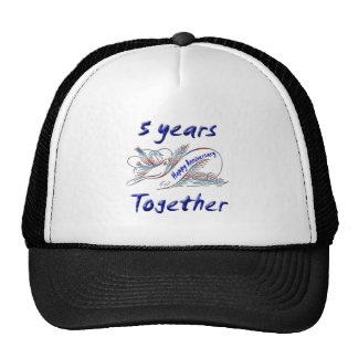 5 Years Together Trucker Hat