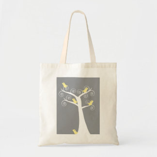 5 Yellow Birds in a Tree Budget Tote Bag