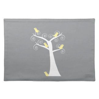 5 Yellow Birds in a Tree Placemats