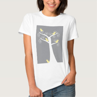 5 Yellow Birds in a Tree Shirt