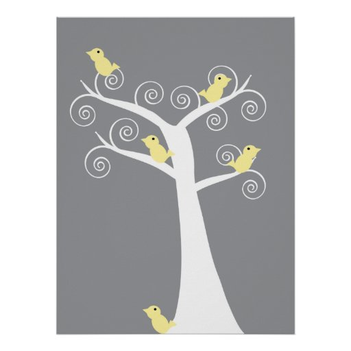 5 Yellow Birds Print