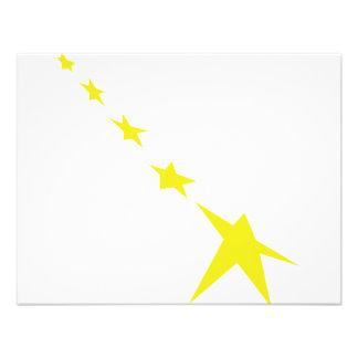 5 yellow stars icon custom announcement