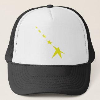5 yellow stars icon trucker hat