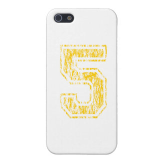 #5 Yellow Varsity Cover For iPhone SE/5/5s