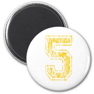 #5 Yellow Varsity Magnet