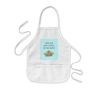 5A 'AIN'T RIGHT' KID'S APRON IN BLUE