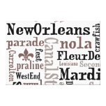 5ft Tall NewOrleans Typography Wrapped Canvas Stretched Canvas Print