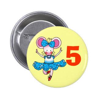 5h birthday gift for a girl, cute ballerina button