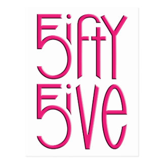 5ifty 5ive hot pink Postcard