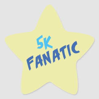 5k Fanatic Funny 3.1 Mile Runner or Walker Saying Star Sticker