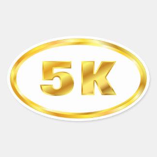 5K Gold Oval Runner Oval Sticker