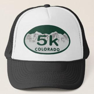 5k license oval trucker hat