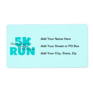 5K Run Aqua Sports Running Label