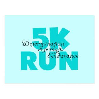 5K Run Aqua Sports Running Postcard