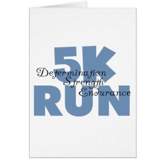5K Run Blue Greeting Card