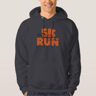 5K Run Orange Hoodie