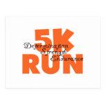 5K Run Orange Postcard