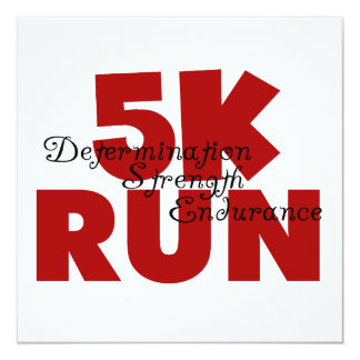 5K Run Red Custom Invitations