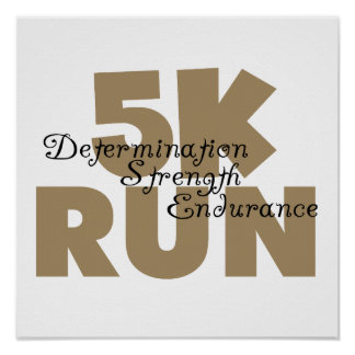 5K Run Tan Poster