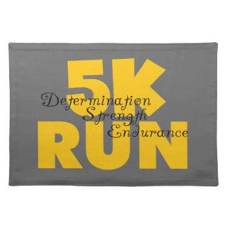 5K Run Yellow Placemat