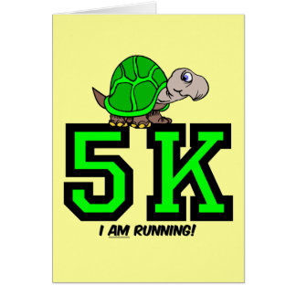 5K runner Card
