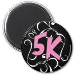 5k Runner or Walker 2 Inch Round Magnet