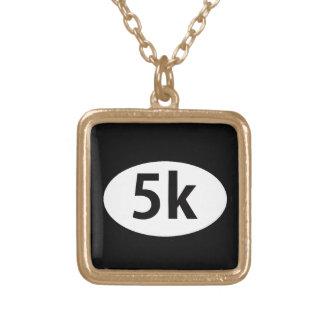 5k square pendant necklace